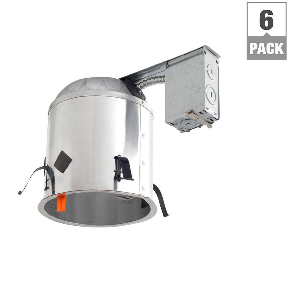 Halo h750 6 in recessed lighting housing for new construction recessed lighting housing for new construction ceiling and lt56 led retrofit downlight kit 4 pack h750icatlt560wh6930 4pk the home depot aloadofball Gallery