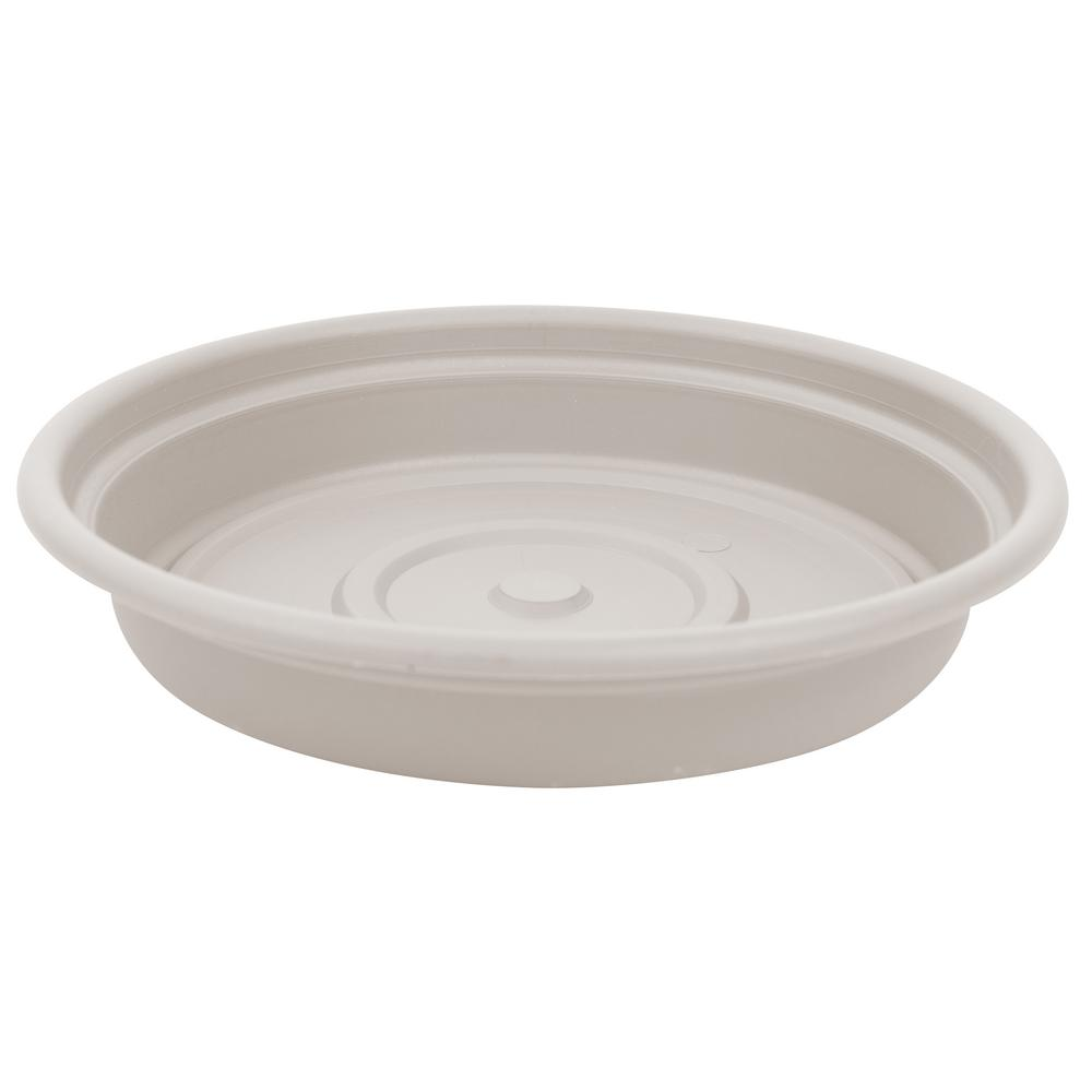 Bloem Dura Cotta 16 In Taupe Plastic Saucer Sdc16 35 The Home Depot