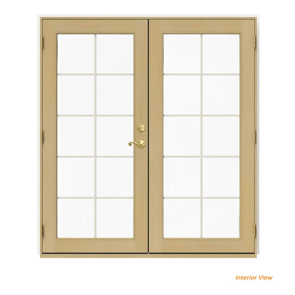 72 in. x 80 in. W-2500 White Clad Wood Right-Hand 10