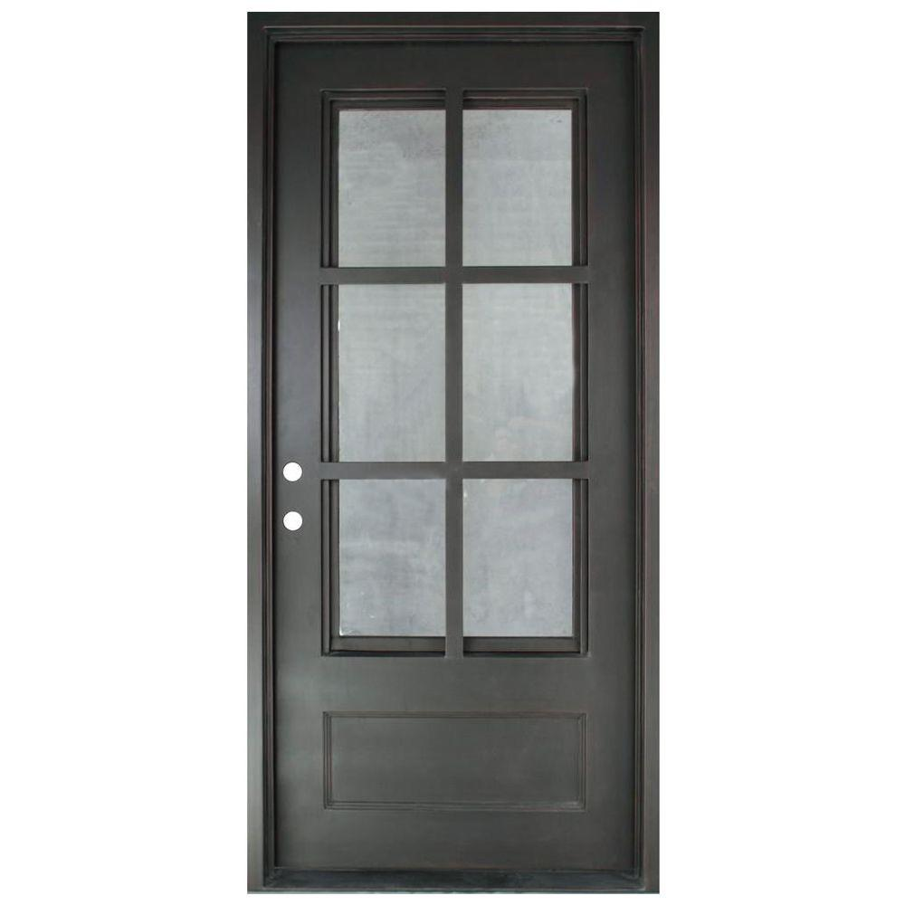 Iron Doors Unlimited 46 in. x 97.5 in. Craftsman Classic 6 Lite Painted Oil  sc 1 st  Home Depot & Iron Doors Unlimited 46 in. x 97.5 in. Craftsman Classic 6 Lite ...