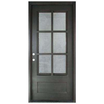 46 In. X 97.5 In. Craftsman Classic 6 Lite Painted Oil Rubbed Bronze Clear