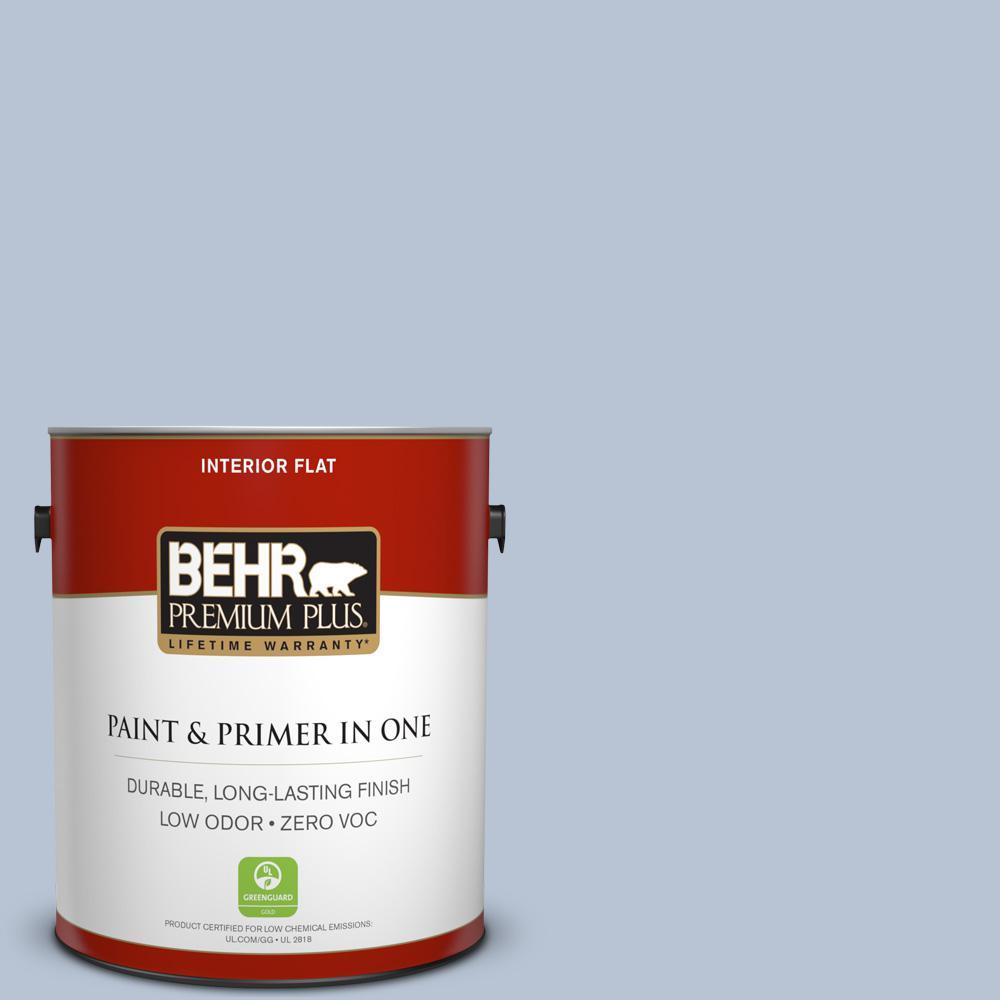 1 gal. #590E-3 Hyacinth Tint Flat Zero VOC Interior Paint and