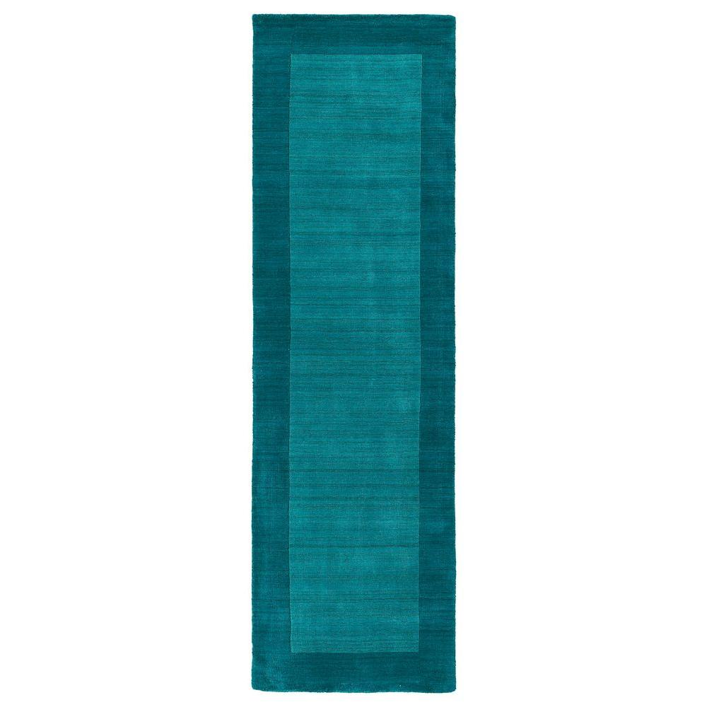Kaleen Regency Turquoise 2 ft. 6 in. x 8 ft. 9 in. Runner