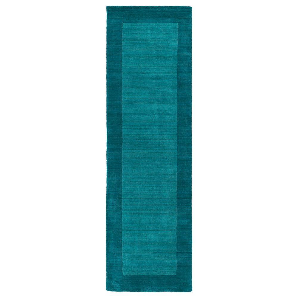 Regency Turquoise 3 ft. x 9 ft. Runner Rug