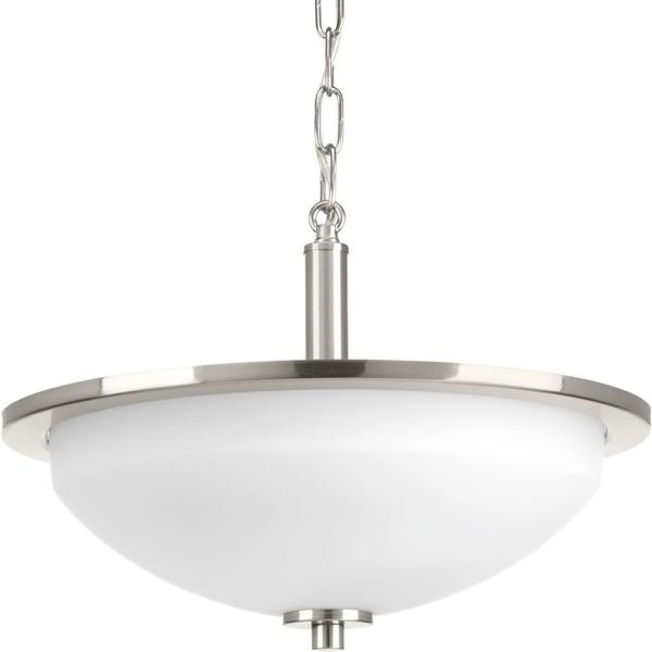 Replay 2-Light Brushed Nickel Semi-Flush Mount