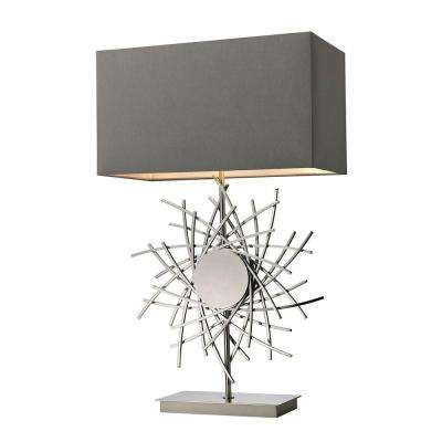 Cesano 31 in. Polished Nickel Abstract Formed Metalwork Table Lamp