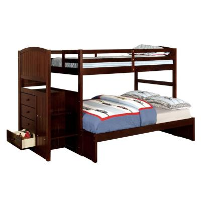 Appenzell in Dark Walnut Twin over Full Size Bunk Bed