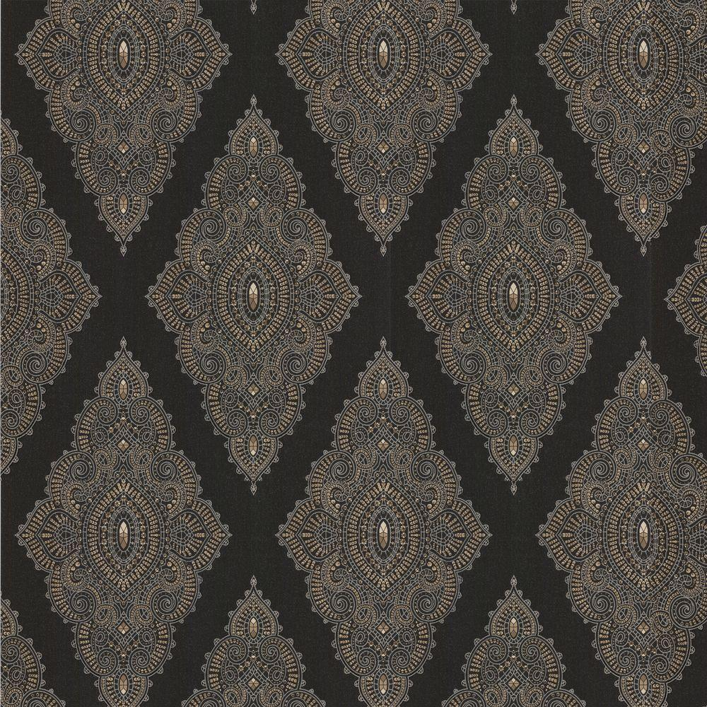 graham and brown wallpaper Graham & Brown Jewel Black Removable Wallpaper 31 166   The Home Depot graham and brown wallpaper