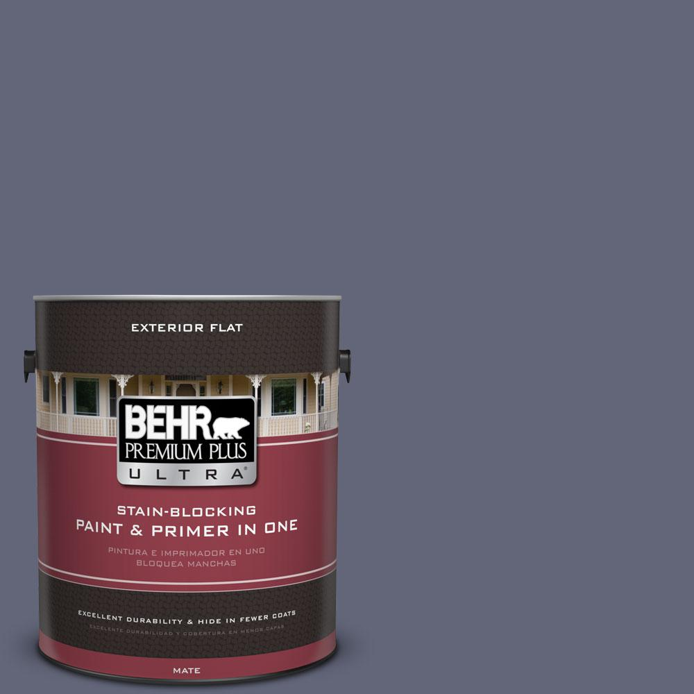 1-gal. #630F-6 Violet Evening Flat Exterior Paint