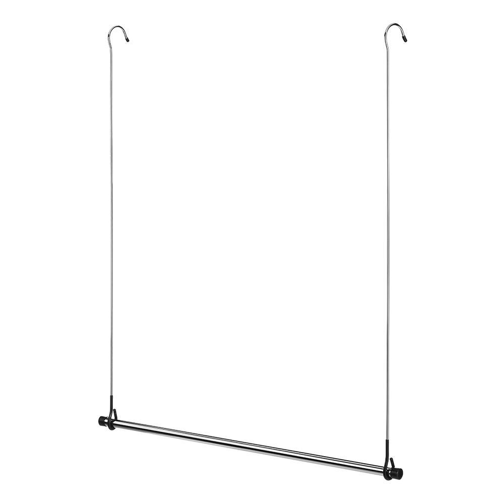 Silver Double Closet Rod Hanger 1 Pack