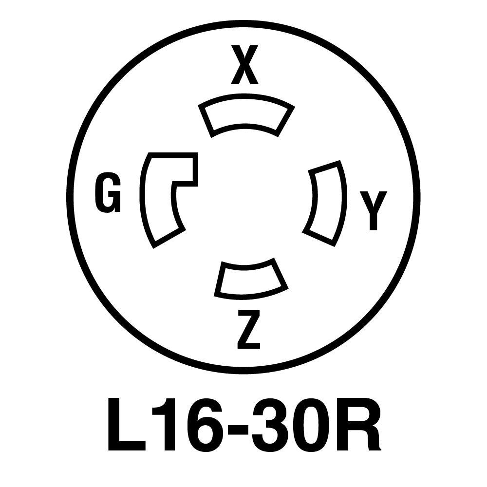 l16 30 wiring diagram turnlok 30 amp 480 volt locking receptacle  black l1630r the  30 amp 480 volt locking receptacle