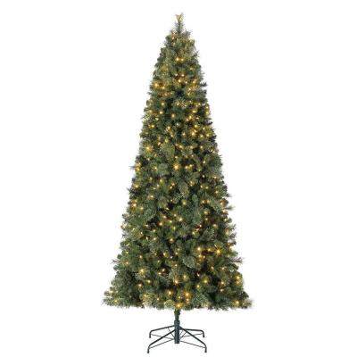 9 ft. Cascade Cashmere Quick Set Christmas Tree and Changing Lights