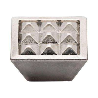 1.5 in. Antique Nickel Pyramids Knob