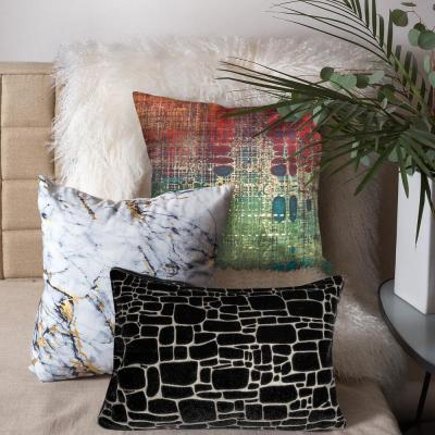 Precious Metals White and Marble Graphic Polyester 20 in. x 20 in. Throw Pillow