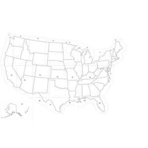 Stencil Ease 29 ft x 19 ft Large US Map StencilSUS224348 The