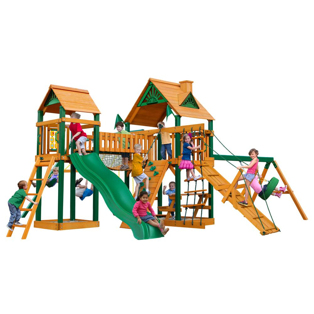 Pioneer Peak Cedar Swing Set with Timber Shield Posts