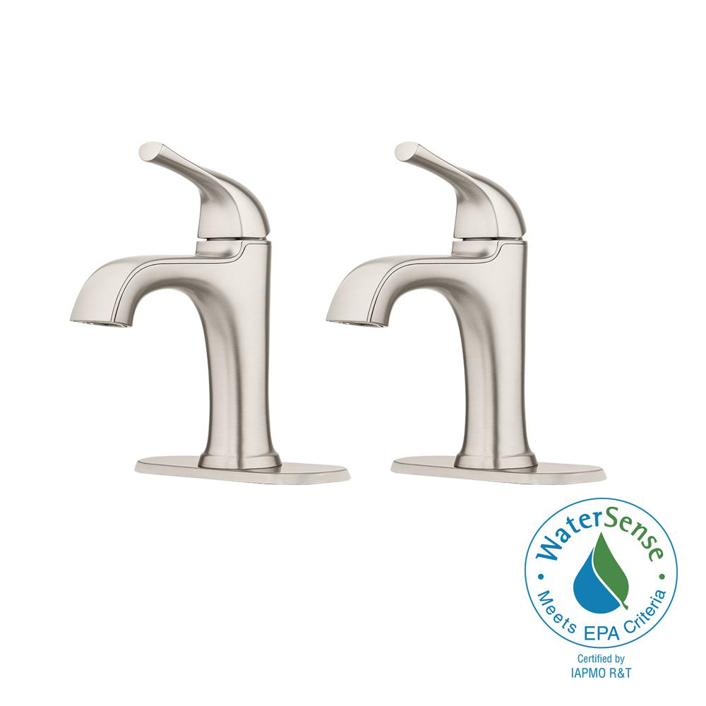 Ladera 4 in. Centerset Single-Handle Bathroom Faucet in Spot Defense Brushed