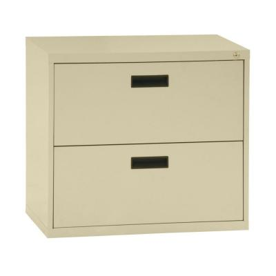 400 Series 26.6 in. H x 30 in. W x 18 in. D 2-Drawer Putty Lateral File Cabinet