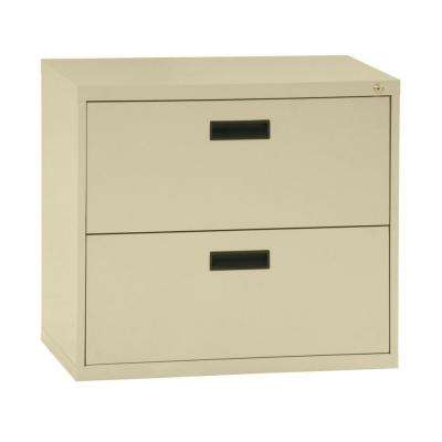 400 Series 27 in. H x 30 in. W x 18 in. D 2-Drawer Putty Lateral File Cabinet