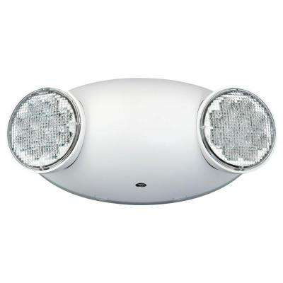 White 2-Light Thermoplastic Integrated LED Emergency Light