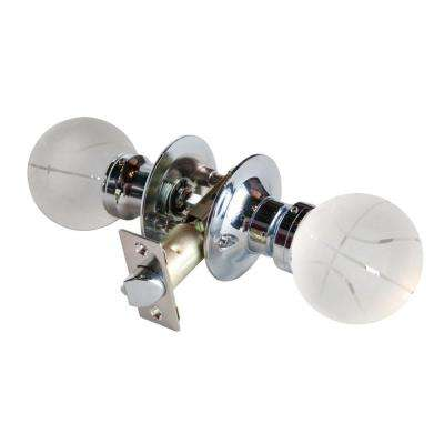 Basketball Crystal Chrome Passive Door Knob with LED Mixing Lighting Touch Activated