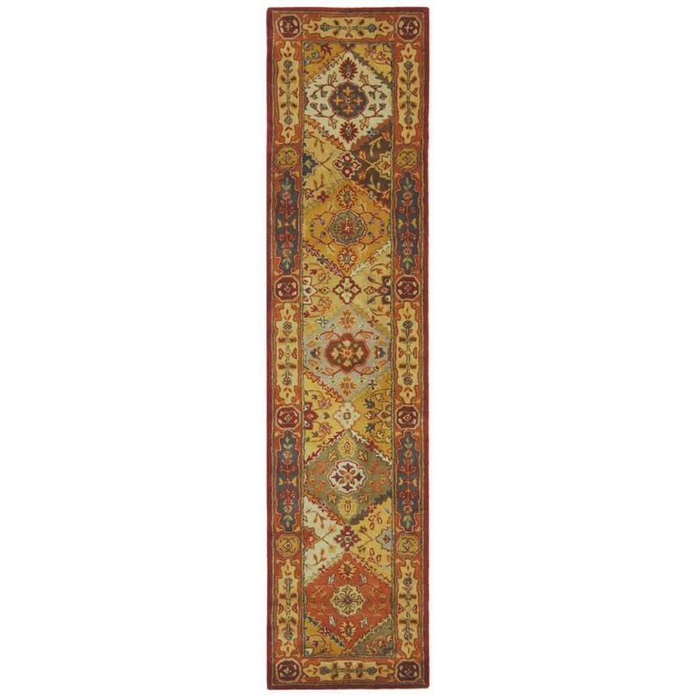 safavieh heritage multi 2 ft 3 in x 8 ft rug runner hg512a 28 the home depot. Black Bedroom Furniture Sets. Home Design Ideas