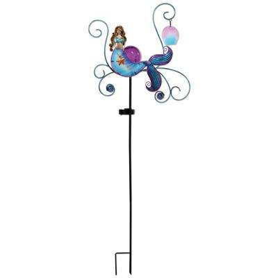 43 in. Mermaid Solar Stake