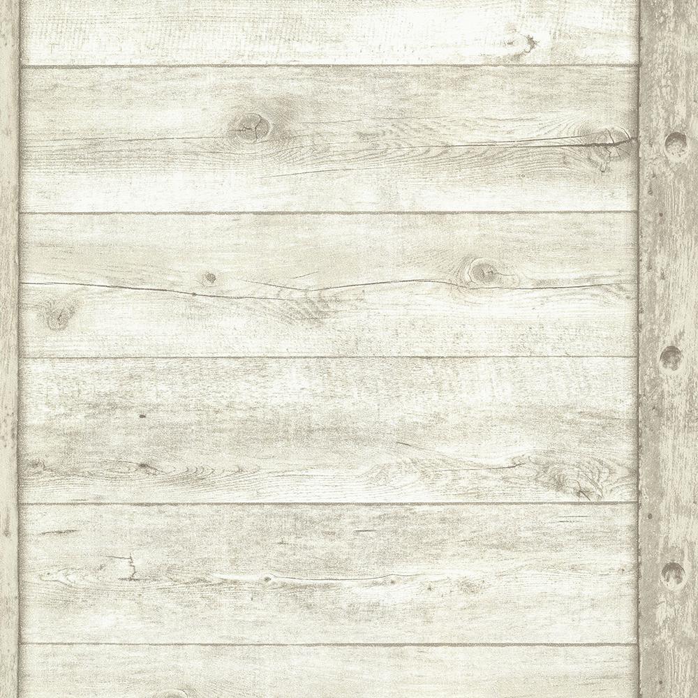 8 in. x 10 in. Absaroka Off-White Shiplap Wallpaper Sample