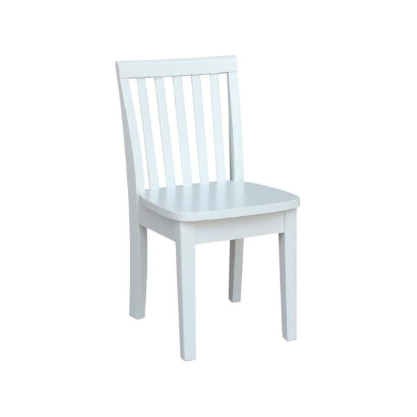 White Wood Kids Chair (Set of 2)