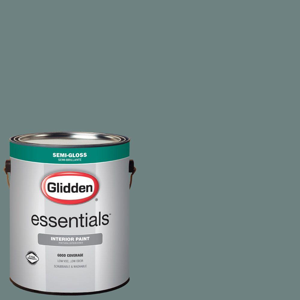 Genial Glidden Essentials 1 Gal. #HDGCN21 Blue Forest Semi Gloss Interior Paint