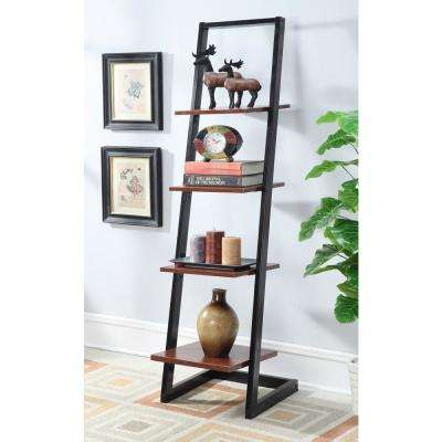 Designs2Go Black And Cherry 4 Tier Ladder Bookcase