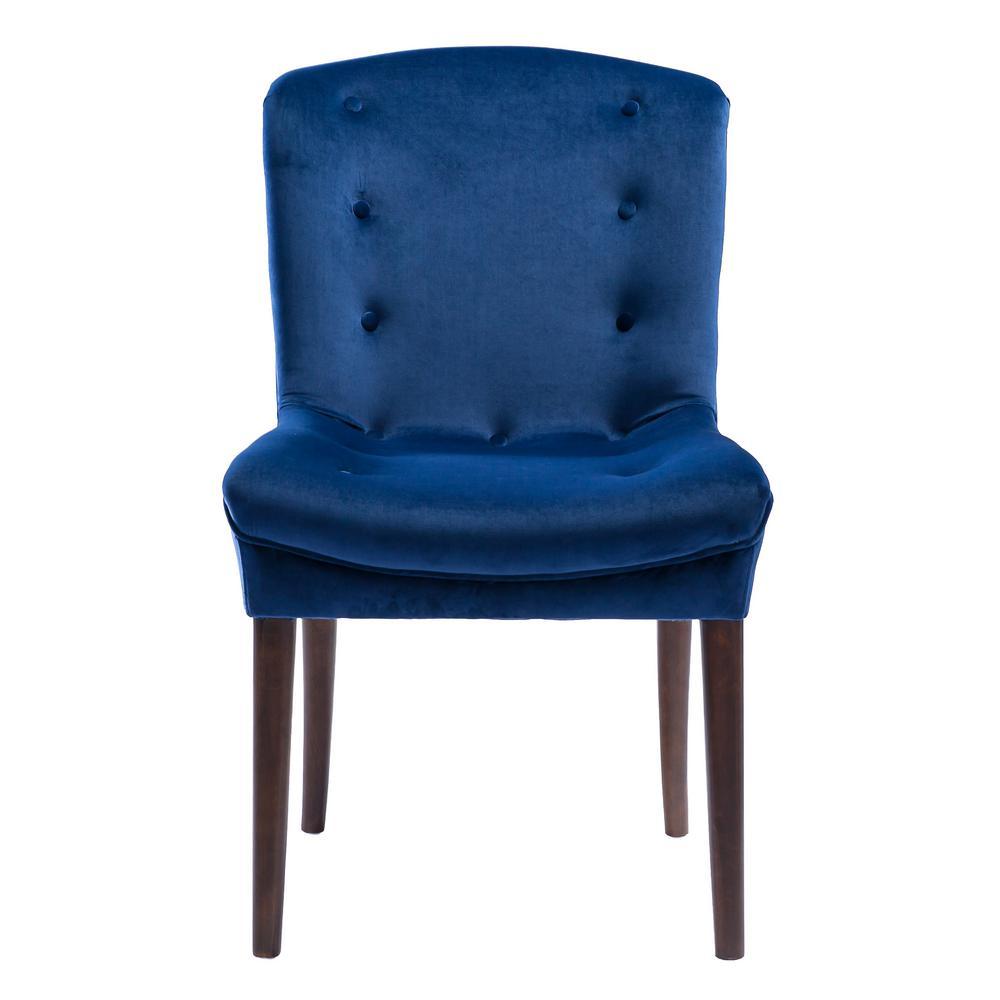 Victor Navy Velvet Chair (Set of 2)