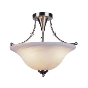 Perkins 3-Light Brushed Nickel Semi-Flush Mount
