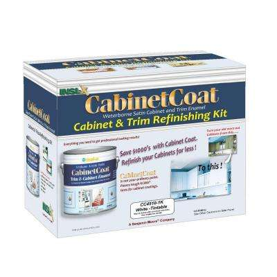 Cabinet Coat 1 gal. Kit Includes White Trim and Cabinet Enamel with Applicators Sandpaper and Tack Cloth