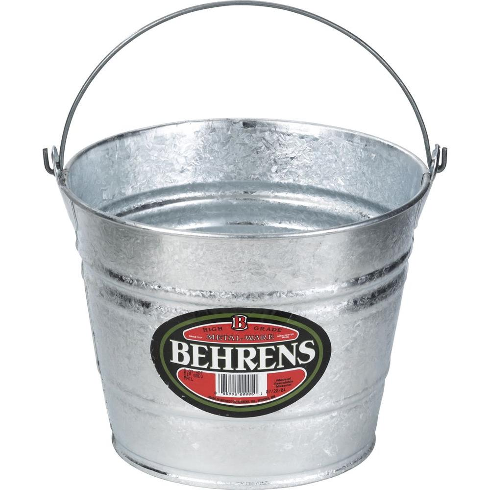 10 Qt. Hot Dipped Steel Pail