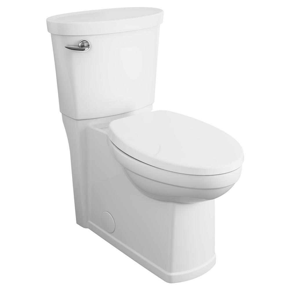 American Standard Cadet 3 Decor Tall Height 2-Piece 1.28 GPF Single Flush Elongated Toilet with Seat in White, Seat Included