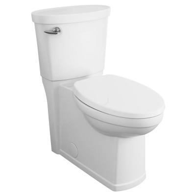 Cadet 3 Decor Tall Height 2-Piece 1.28 GPF Single Flush Elongated Toilet with Seat in White, Seat Included
