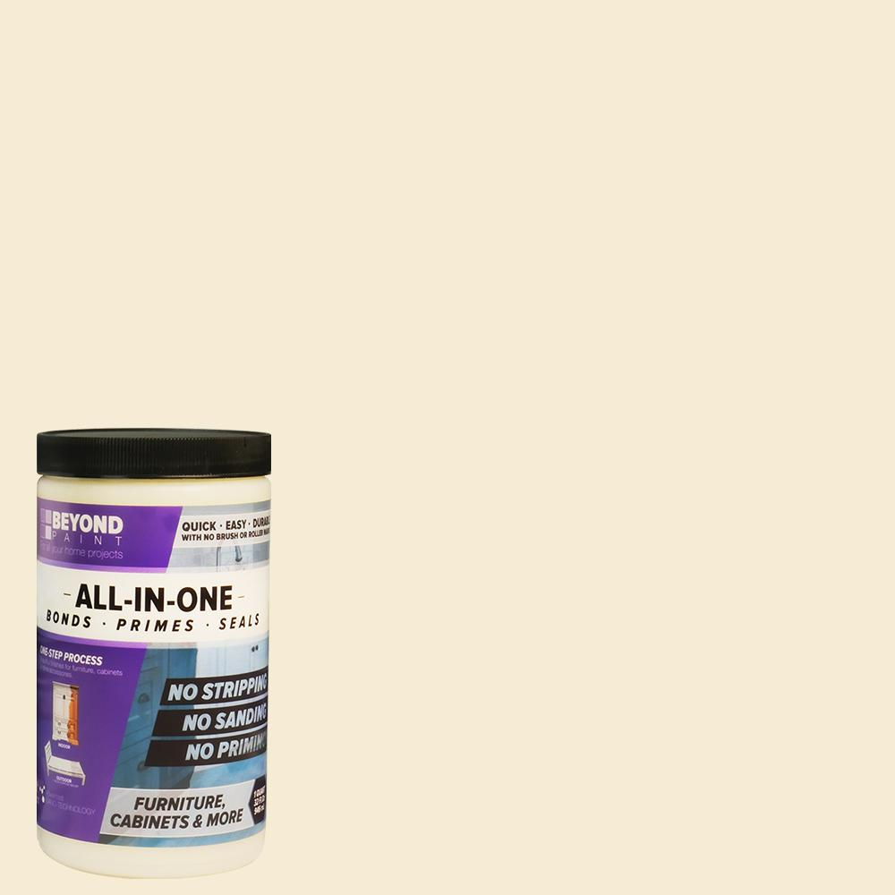 Beyond Paint 1 qt. Off White Furniture, Cabinets and More Multi-Surface All-in-One Interior/Exterior Flat Refinishing Paint