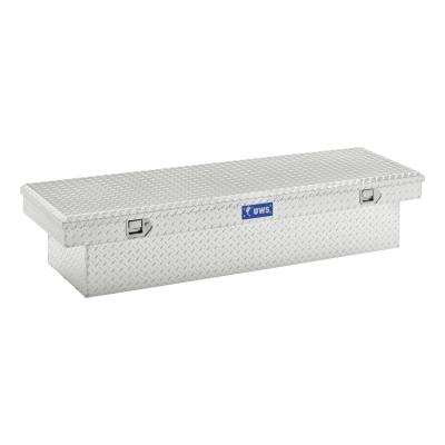 69.875 Silver Aluminum Full Size Crossbed Truck Tool Box
