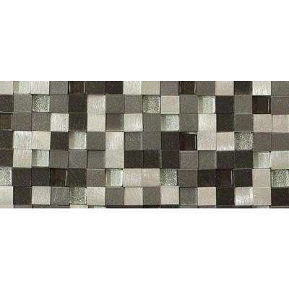 Urban Skyscraper Metal Mosaic Tile - 3 in. x 6 in. Tile Sample