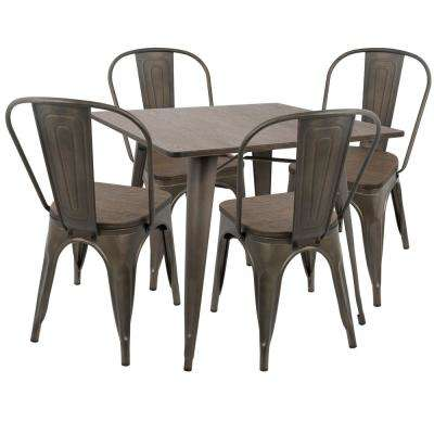 Oregon 5-Piece Antique and Espresso Dining Set