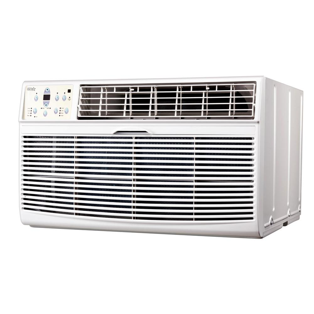 Varouj Appliances Servic 14,000 BTU 220-Volt Through-the-Wall Air Conditioner with Heat and Remote Star Air Kontrol 14,000 BTU Through The Wall Heat and Cool Air Conditioner 220-Volt. This air conditioner will keep your room in style. Comes with a remote.