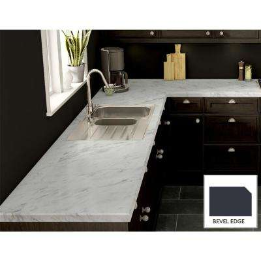 Calcutta Marble Laminate Custom Bevel Edge