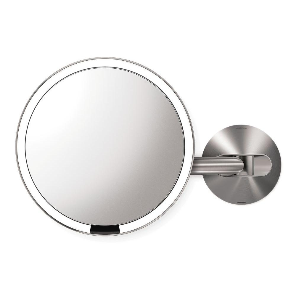 Simplehuman Lighted Makeup Mirror.Simplehuman Wall Mount Lighted Sensor Activated Vanity Makeup Mirror In Brushed Stainless Steel