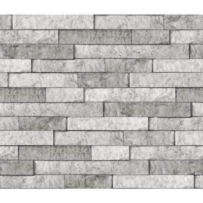 Grey Stone Wall Applique Peel and Stick Backsplash