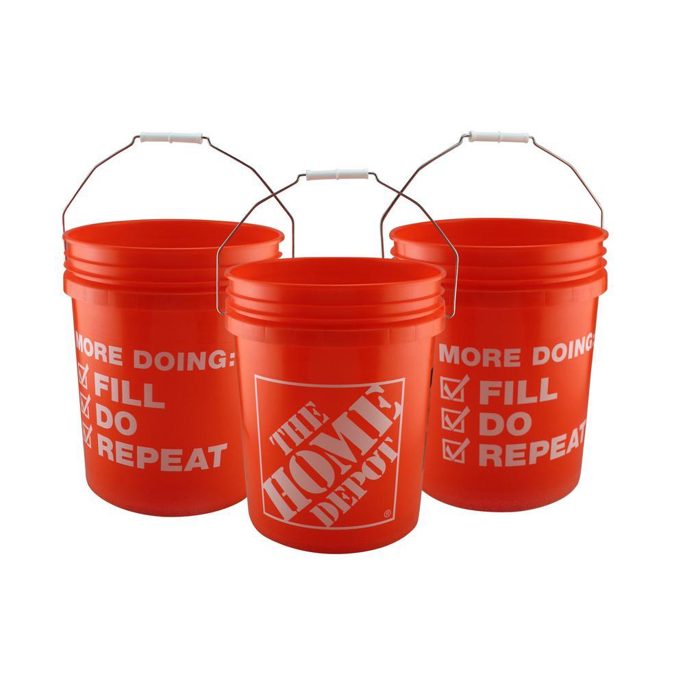 The Home Depot 5 Gal. Homer Bucket (10-Pack)