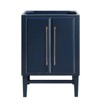 Mason 24 in. Bath Vanity Cabinet Only in Navy Blue with Silver Trim