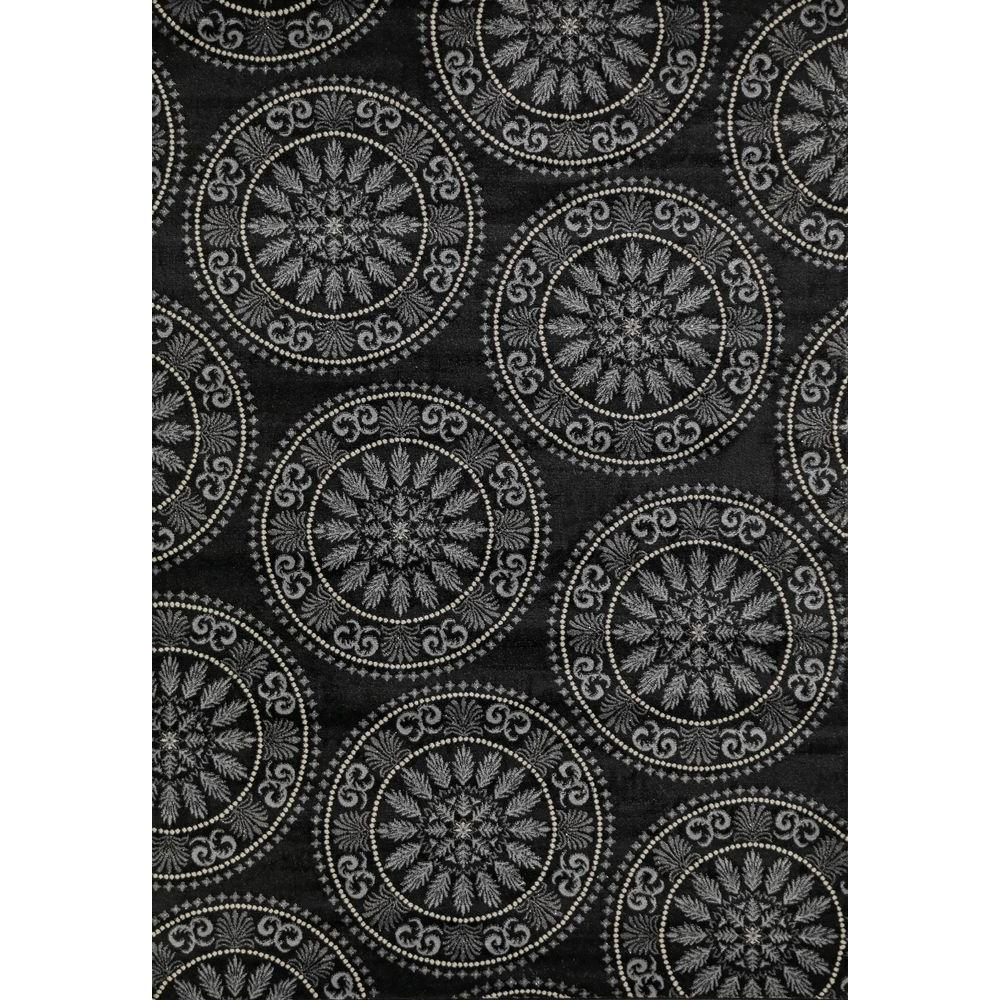 Lumina Medallion Black 6 ft. 7 in. x 9 ft. 3