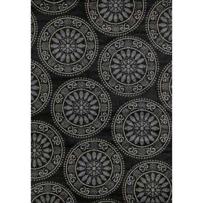 Lumina Medallion Black 8 ft. x 11 ft. Area Rug