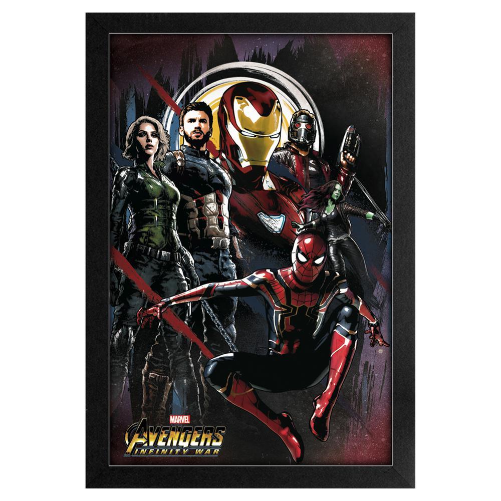 Avengers -Infinity War- Avengers Splash 11x17 Framed Print